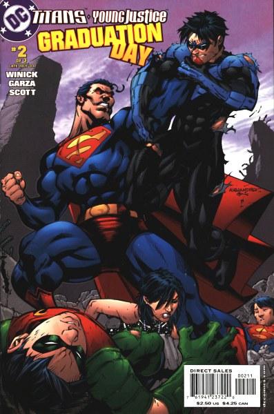 Primer aporte de comics Teen Titans graduation day 2184